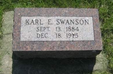 SWANSON, KARL E. - Mills County, Iowa   KARL E. SWANSON