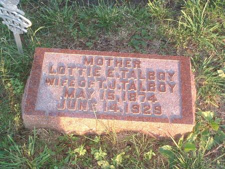 TALBOY, LOTTIE E. - Mills County, Iowa   LOTTIE E. TALBOY