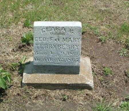 TERRYBERRY, CLARA B. - Mills County, Iowa   CLARA B. TERRYBERRY