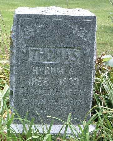 THOMAS, ELIZABETH - Mills County, Iowa | ELIZABETH THOMAS
