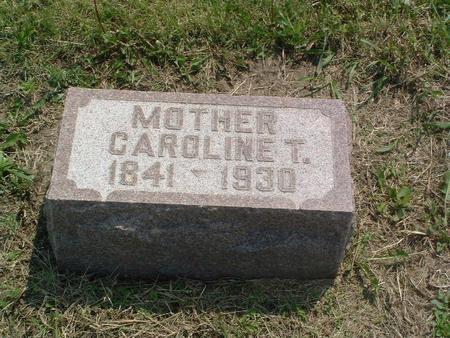 UTTERBACK, CAROLINE T. - Mills County, Iowa | CAROLINE T. UTTERBACK