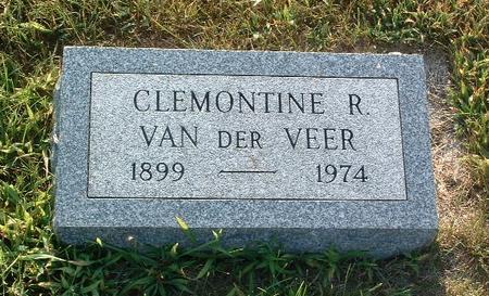VAN DER VEER, CLEMONTINE R. - Mills County, Iowa   CLEMONTINE R. VAN DER VEER