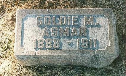 ASMAN VAN SCYOC, GOLDIE MARINDA - Mills County, Iowa | GOLDIE MARINDA ASMAN VAN SCYOC