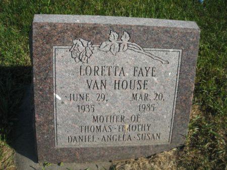 VAN HOUSE, LORETTA FAYE - Mills County, Iowa | LORETTA FAYE VAN HOUSE