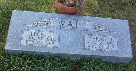 WAIT, LEON L. - Mills County, Iowa | LEON L. WAIT