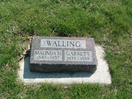 WALLING, MALINDA H. - Mills County, Iowa   MALINDA H. WALLING
