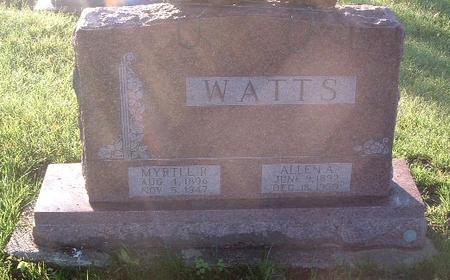 WATTS, MYRTLE R. - Mills County, Iowa   MYRTLE R. WATTS