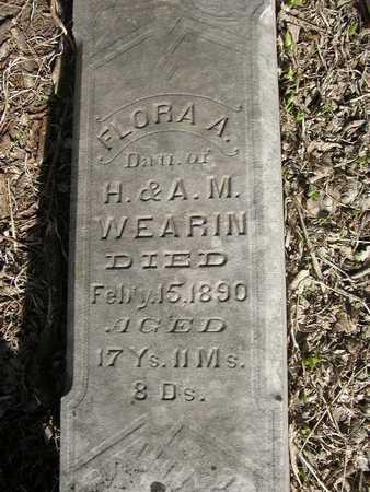 WEARIN, FLORA A. - Mills County, Iowa   FLORA A. WEARIN