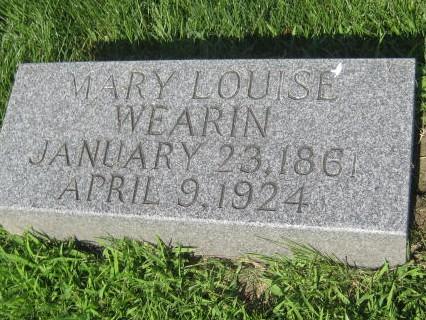 WEARIN, MARY LOUISE - Mills County, Iowa | MARY LOUISE WEARIN