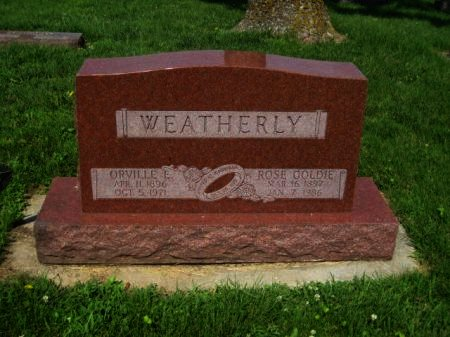 WEATHERLY, ORVILLE E. - Mills County, Iowa | ORVILLE E. WEATHERLY