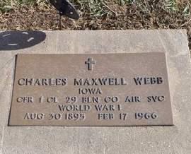 WEBB, CHARLES MAXWELL - Mills County, Iowa   CHARLES MAXWELL WEBB