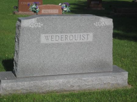 WEDERQUIST, MONUMENT - Mills County, Iowa | MONUMENT WEDERQUIST