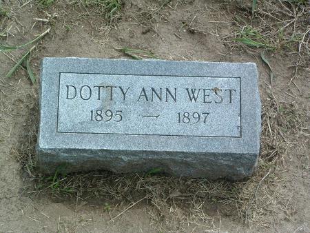 WEST, DOTTY ANN - Mills County, Iowa | DOTTY ANN WEST