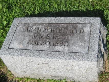 WHITFIELD, SARAH M. - Mills County, Iowa   SARAH M. WHITFIELD