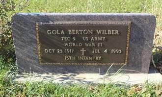WILBER, GOLA BERTON - Mills County, Iowa   GOLA BERTON WILBER