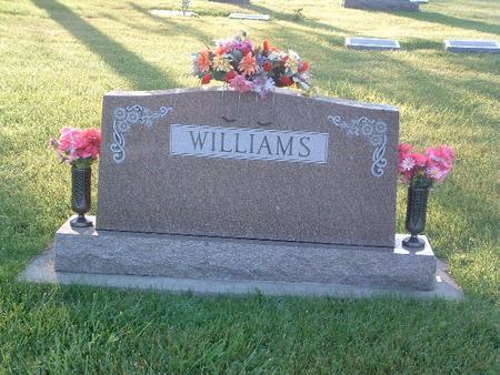 WILLIAMS, FAMILY HEADSTONE - Mills County, Iowa | FAMILY HEADSTONE WILLIAMS