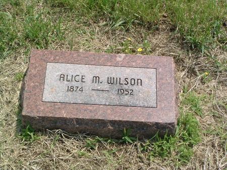WILSON, ALICE M. - Mills County, Iowa   ALICE M. WILSON