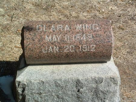 WING, CLARA - Mills County, Iowa | CLARA WING
