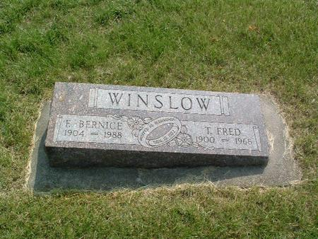 WINSLOW, T. FRED - Mills County, Iowa | T. FRED WINSLOW