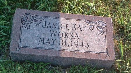 WOKSA, JANICE KAY - Mills County, Iowa   JANICE KAY WOKSA