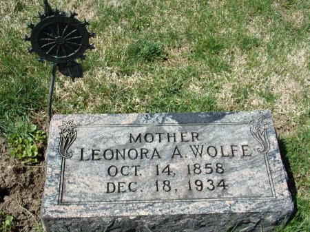 WOLFE, LEONORA A. - Mills County, Iowa | LEONORA A. WOLFE