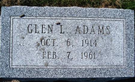 ADAMS, GLEN L. - Mitchell County, Iowa   GLEN L. ADAMS