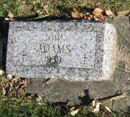 ADAMS, JOHN - Mitchell County, Iowa | JOHN ADAMS