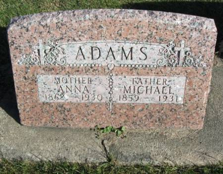 FAAS ADAMS, ANNA - Mitchell County, Iowa | ANNA FAAS ADAMS