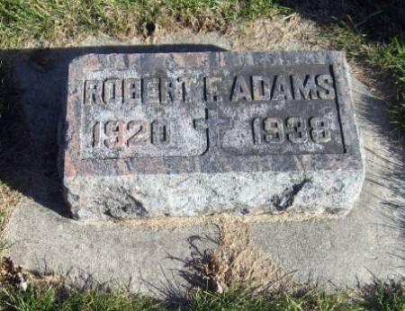 ADAMS, ROBERT F. - Mitchell County, Iowa   ROBERT F. ADAMS