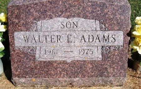 ADAMS, WALTER E. - Mitchell County, Iowa   WALTER E. ADAMS