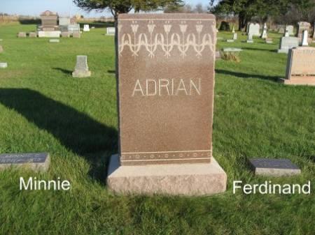 ADRIAN, MINNIE (LOT) - Mitchell County, Iowa | MINNIE (LOT) ADRIAN