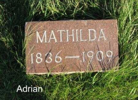 ADRIAN, MATHILDA - Mitchell County, Iowa   MATHILDA ADRIAN