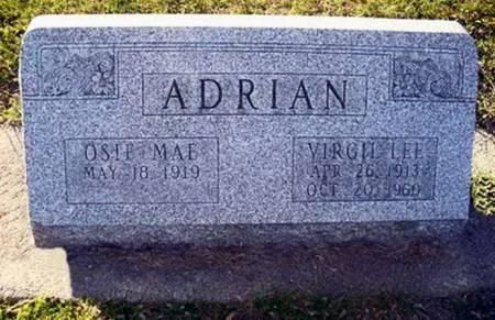 ADRIAN, VIRGIL LEE - Mitchell County, Iowa | VIRGIL LEE ADRIAN