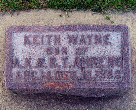 AHRENS, KEITH WAYNE - Mitchell County, Iowa   KEITH WAYNE AHRENS