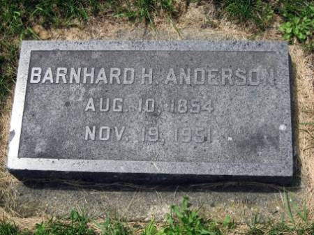 ANDERSON, BARNHARD H. - Mitchell County, Iowa | BARNHARD H. ANDERSON