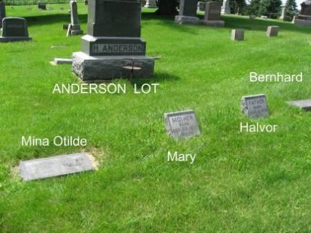 ANDERSON, HALVOR (LOT) - Mitchell County, Iowa   HALVOR (LOT) ANDERSON