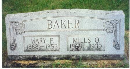 BAKER, MARY FRANCES - Mitchell County, Iowa | MARY FRANCES BAKER