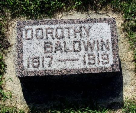 BALDWIN, DOROTHY - Mitchell County, Iowa   DOROTHY BALDWIN