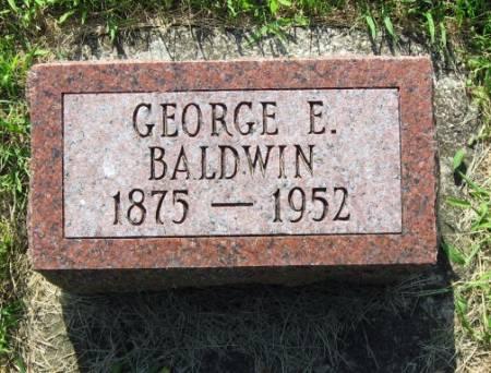 BALDWIN, GEORGE E. - Mitchell County, Iowa   GEORGE E. BALDWIN