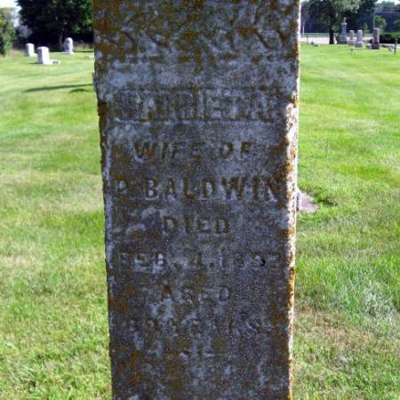 BALDWIN, HARRIET A. - Mitchell County, Iowa   HARRIET A. BALDWIN