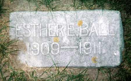 BALL, ESTHER - Mitchell County, Iowa | ESTHER BALL
