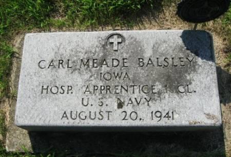 BALSLEY, CARL MEADE - Mitchell County, Iowa   CARL MEADE BALSLEY