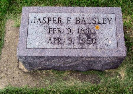 BALSLEY, JASPER F. - Mitchell County, Iowa | JASPER F. BALSLEY