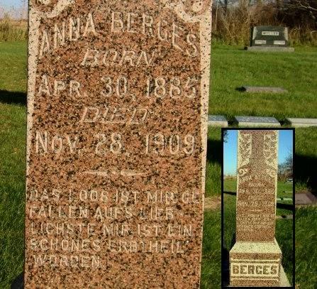 BERGES, ANNA - Mitchell County, Iowa | ANNA BERGES