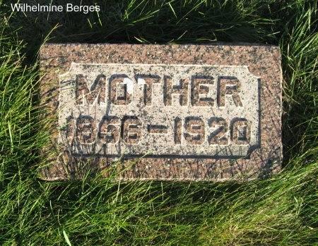 BERGES, WILHELMINE - Mitchell County, Iowa   WILHELMINE BERGES