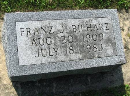 BILHARZ, FRANZ J. 1909 - Mitchell County, Iowa   FRANZ J. 1909 BILHARZ