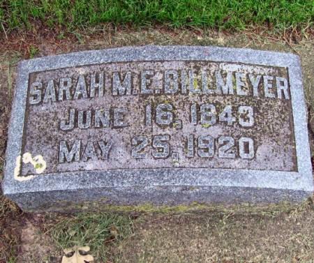 BILLMEYER, SARAH M. E. - Mitchell County, Iowa | SARAH M. E. BILLMEYER