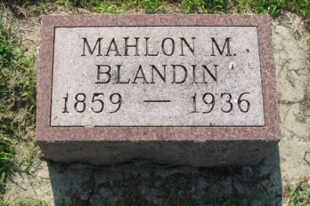 BLANDIN, MAHLON MELVIN - Mitchell County, Iowa | MAHLON MELVIN BLANDIN
