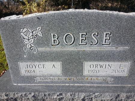 BOESE, ORWIN E. - Mitchell County, Iowa | ORWIN E. BOESE