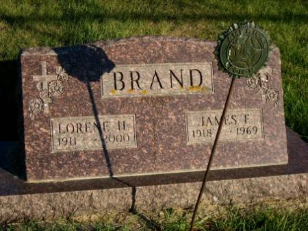 BRAND, JAMES F. - Mitchell County, Iowa   JAMES F. BRAND